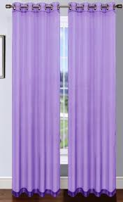 Lilac Curtains Lilac Platinum Sheer Voile Curtain With Grommets Moshells