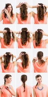 how to i french plait my own side hair how to french braid hair with picture tutorial bun braids