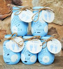 jar baby shower centerpieces painted jars baby shower centerpieces baby boy shower