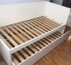 Ikea Single Bed Frame Ikea Flaxa Single Bed Frame With Pull Out Guest Bed Ebay