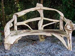 Driftwood Outdoor Furniture by Bench Driftwood Rustic Gardens And Gardens
