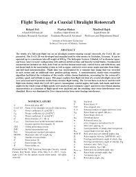 flight testing of a coaxial ultralight rotorcraft pdf