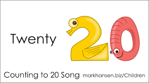 counting songs 1 20 for children numbers to song kindergarten kids
