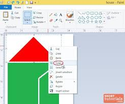 how to crop a picture in ms paint windows 8