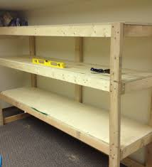 2x4 garage shelf plans free plans to build garage shelving