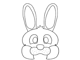 mask template easter bunny mask template