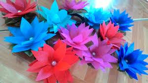 cara membuat bunga dari kertas pita jepang tutorial membuat bunga teratai dari kain spunbond simple kyuzuma itha