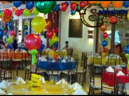 balloon decor setup