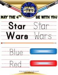 star wars letter tracing coloring pages esl kidz tpt