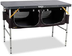 folding table with storage oztrail folding table with storage free delivery snowys outdoors