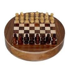 kiva store wood chess set board with storage drawers circle