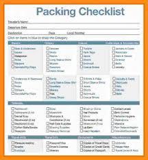 sample travel checklist efficiencyexperts us