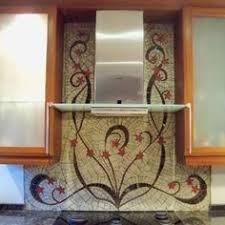 Stained Glass Backsplash by Homeowner Designed Glass And Ceramic Tile Mosaic Backsplash