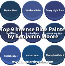 top 9 intense blue paints by benjamin moore interiors by color