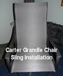 Patio Furniture Sling Replacement Carter Grandle Patio Chair Sling Replacement Installation New Video