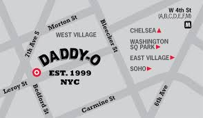Soho Nyc Map Daddy O U2013 Cocktails Whiskey Beer American Food Sports Bar New