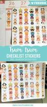 273 best planners and planner accessories images on pinterest free tsum tsum checklist stickers for your planner