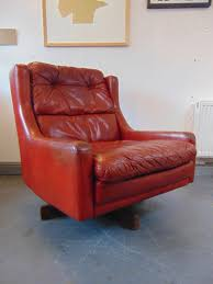 Vintage Leather Chairs For Sale Vintage Mid Century 1960 U0027s Ox Blood Red Leather Danish Swivel