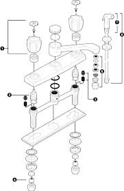glacier bay kitchen faucet diagram kitchen sink faucet leaking at handle replacement parts faucets