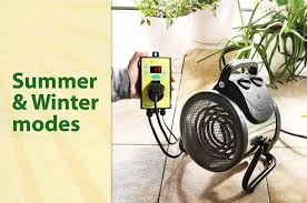 greenhouse thermostat fan control greenhouse fan heater with in built thermostat controller