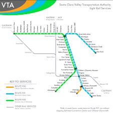 san jose light rail map the transit