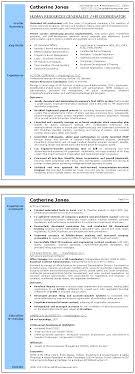 human resources generalist resume sle