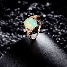 vintage opal engagement rings 36 most unique opal engagement rings from etsy