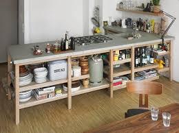 plan de travail avec rangement cuisine plan de travail en béton ciré photos supers et conseils diy