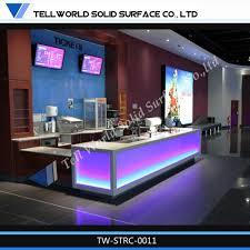 Tufted Reception Desk Tufted Reception Desk Solid Surface Beauty Front Desk Design