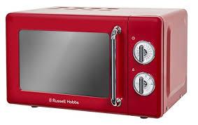 mikrowelle retro design hobbs rhretmm705r retro rot kompakte manuelle mikrowelle
