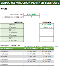 Capacity Planning Excel Template Free Employee Vacation Planner Free Hr Excel Template For Managers
