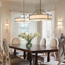 contemporary light fixtures in rustic dining room interior