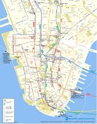 Nyc City Map New York City Map Lower Manhattan Tribeca And Chinatown Moon With