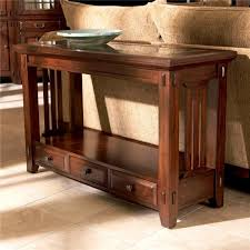 Oak Sofa Table With Drawers Mission Sofa Table Plans Free Brokeasshome Com