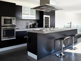 Black Kitchens Designs by Kitchen Amusing Black High Gloss Wood Kitchen Island With
