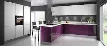 glossy diams cuisine couleur violette deco intérieur