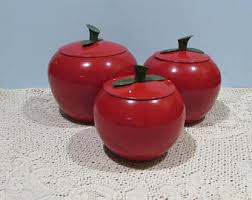 apple canisters etsy