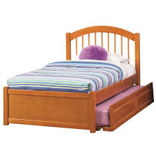 brown wooden flat platform bed with storage for extra bed jpg