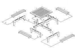 Picnic Table Plans Free Square Hardwood Picnic Table