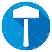 hammer of thor flat icon thor s hammer symbol royalty free