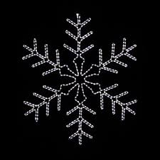 snowflakes u0026 stars 4 u0027 led lighted snowflake outdoor christmas