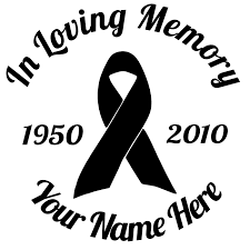 in memory of in loving memory stickers decals car stickers