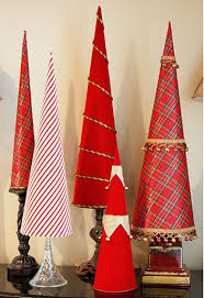 fabric covered poster board cone trees by the exchange trendy