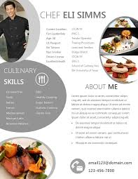 Best Chef Resume by 28 Chef Sample Resume Chef Resume Samples Tips And Templates