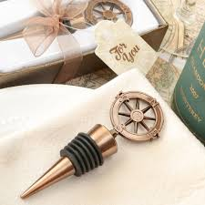 wine stopper wedding favors compass wine bottle stopper wedding favors nautical wedding