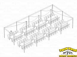 table seating for 20 20x40 pole tent layouts pictures diagrams rentals