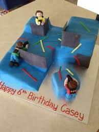 lazer tag sugar figurines lazer tag and paintball cakes and