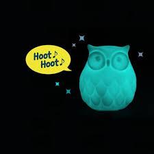 night light sound led owl night light l with darkness sensor yellow octopus