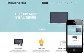 flat single page responsive web template