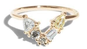 custom cluster v shaped ring bario neal